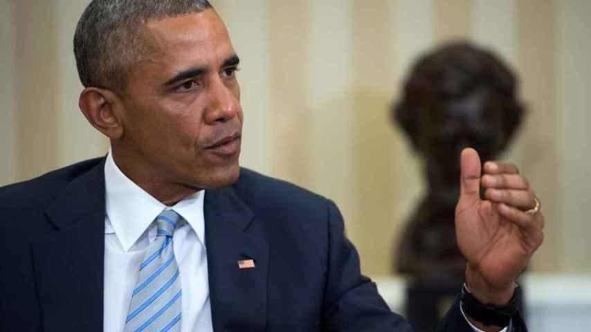 Barack Obama en la Comisión Nacional de Seguridad Cibernética en la Casa Blanca en Washington.