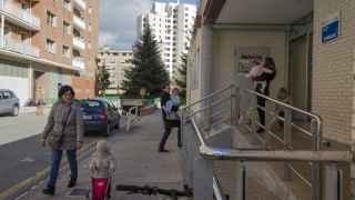 Entrada de la escuela infantil Donibale, en Pamplona.