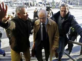 Rodrigo Rato a su llegada a los juzgados Plaza de Castilla