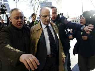 El exvicepresidente del Gobierno Rodrigo Rato a su llegada los juzgados de la madrileña Plaza de Castilla