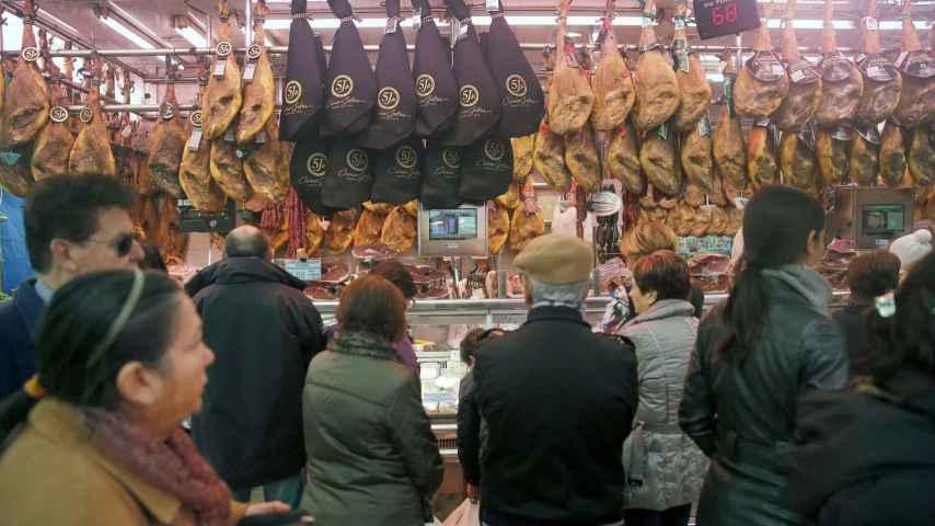 Puesto del mercado central de Valencia.