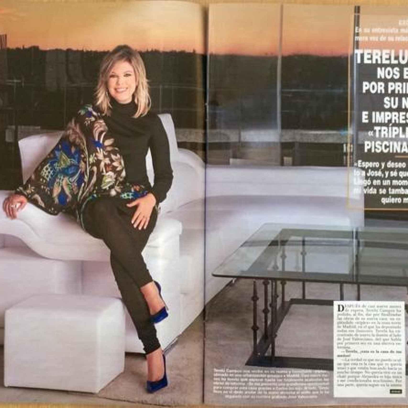 Terelu mostró su nuevo tríplex en exclusiva a una revista