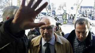 Rodrigo Rato a la salida de los juzgados.