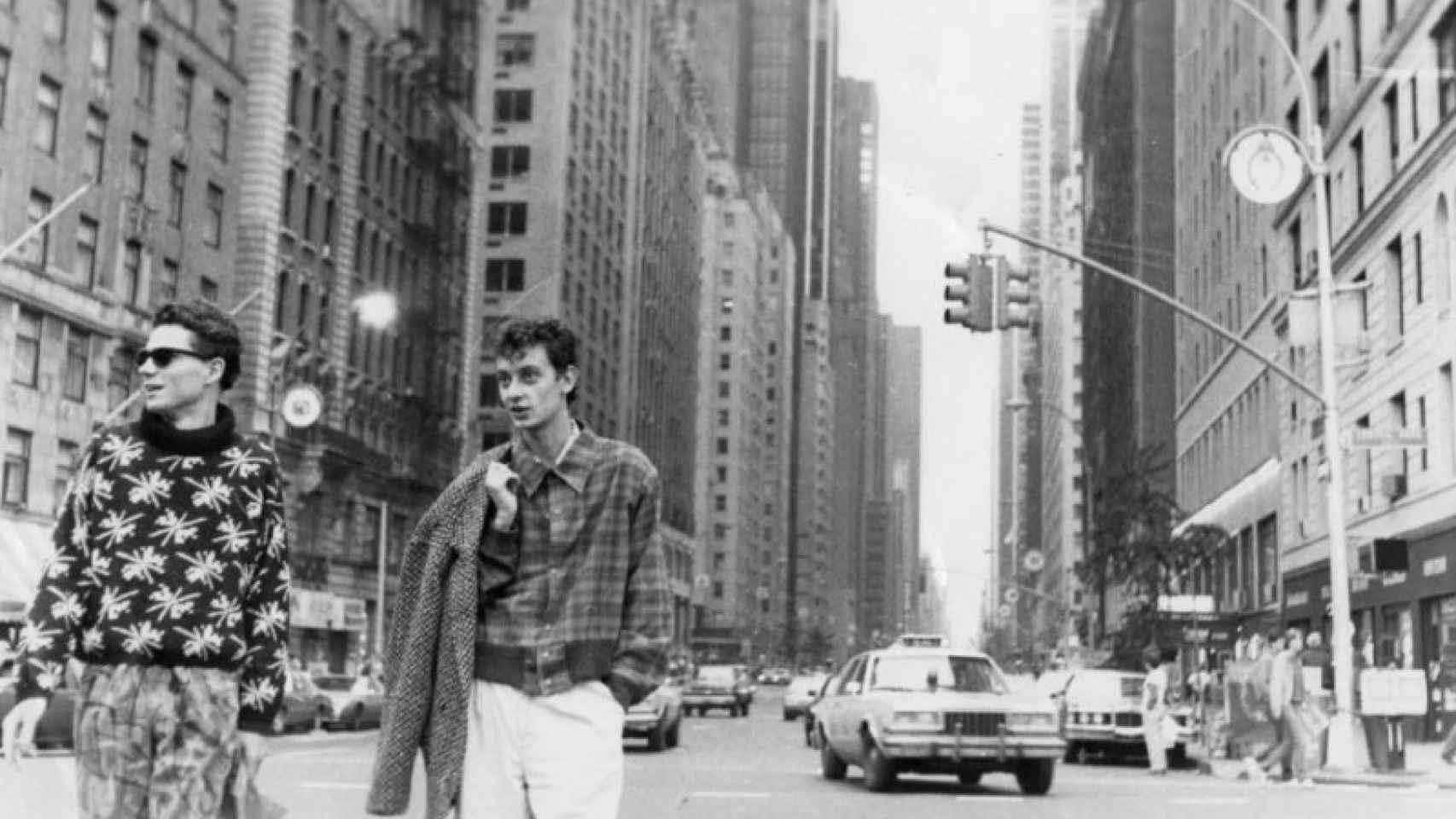 Adrián y José Luis en las calles de Nueva York, en 1985.