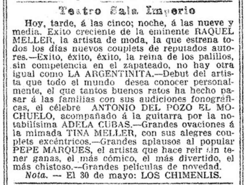 Recorte de La Vanguardia, del 9 de mayo de 1912.