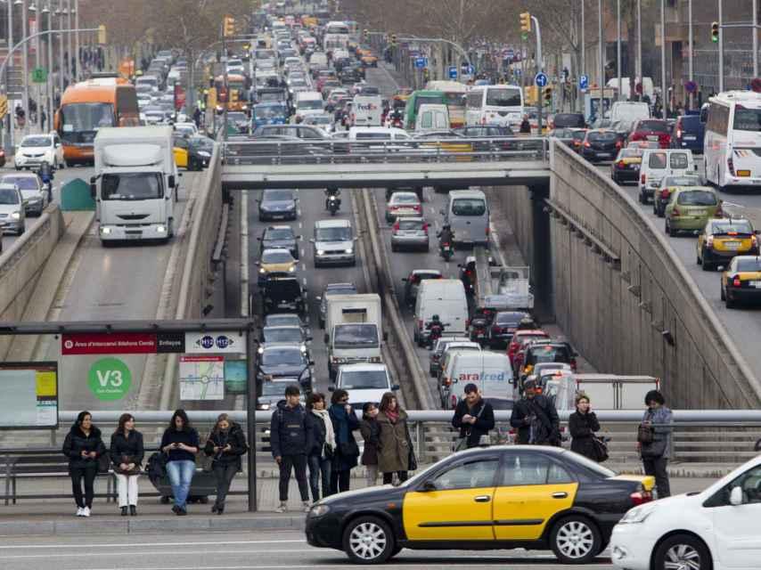 El tráfico en Barcelona.