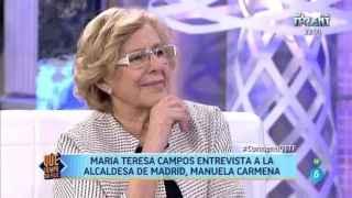 Bigote Arrocet emociona a Carmena con una canción argentina