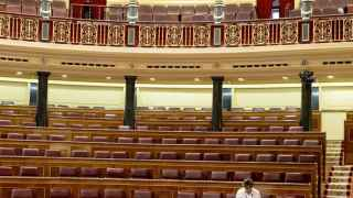 El Congreso de los Diputados, días antes del reparto del Hemiciclo.
