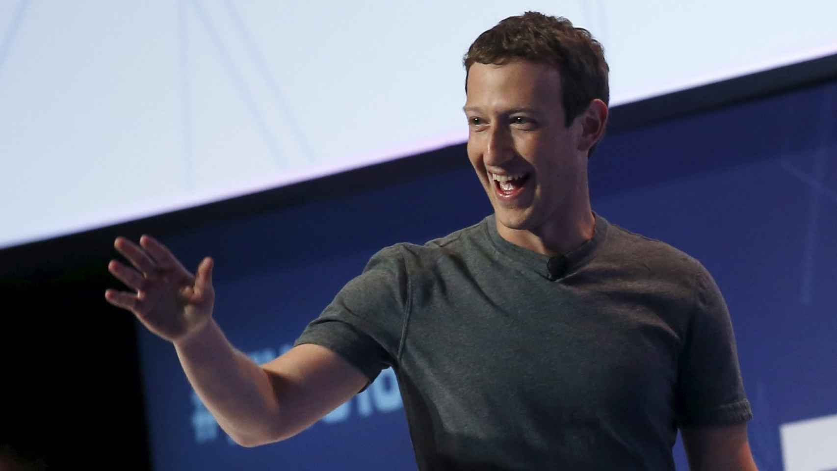 El fundador de Facebook, Mark Zuckerberg, durante su estancia en el MWC.