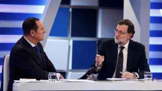Rajoy, durante la entrevista en 13TV.