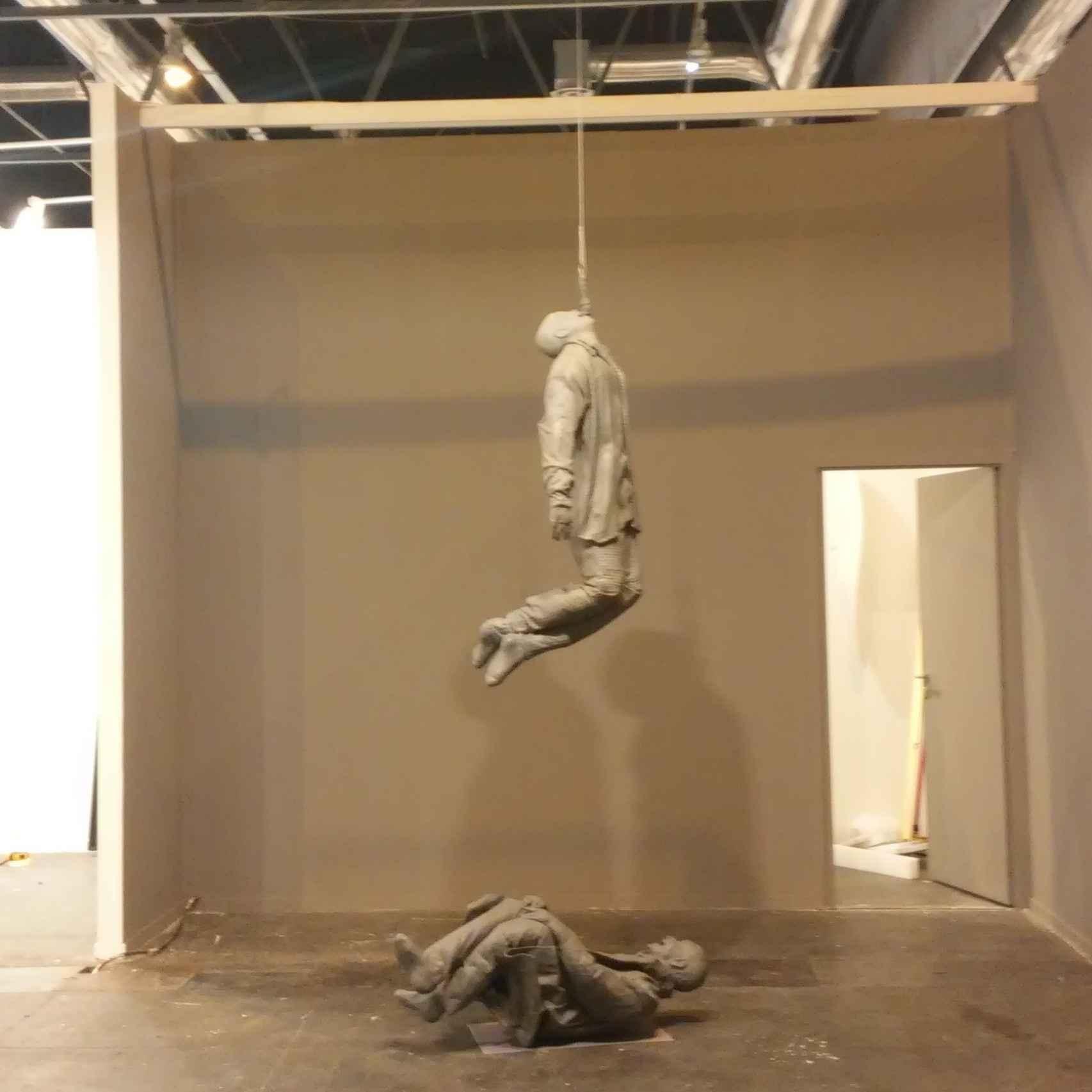 Una pieza de Juan Muñoz en la galería Elvira González.