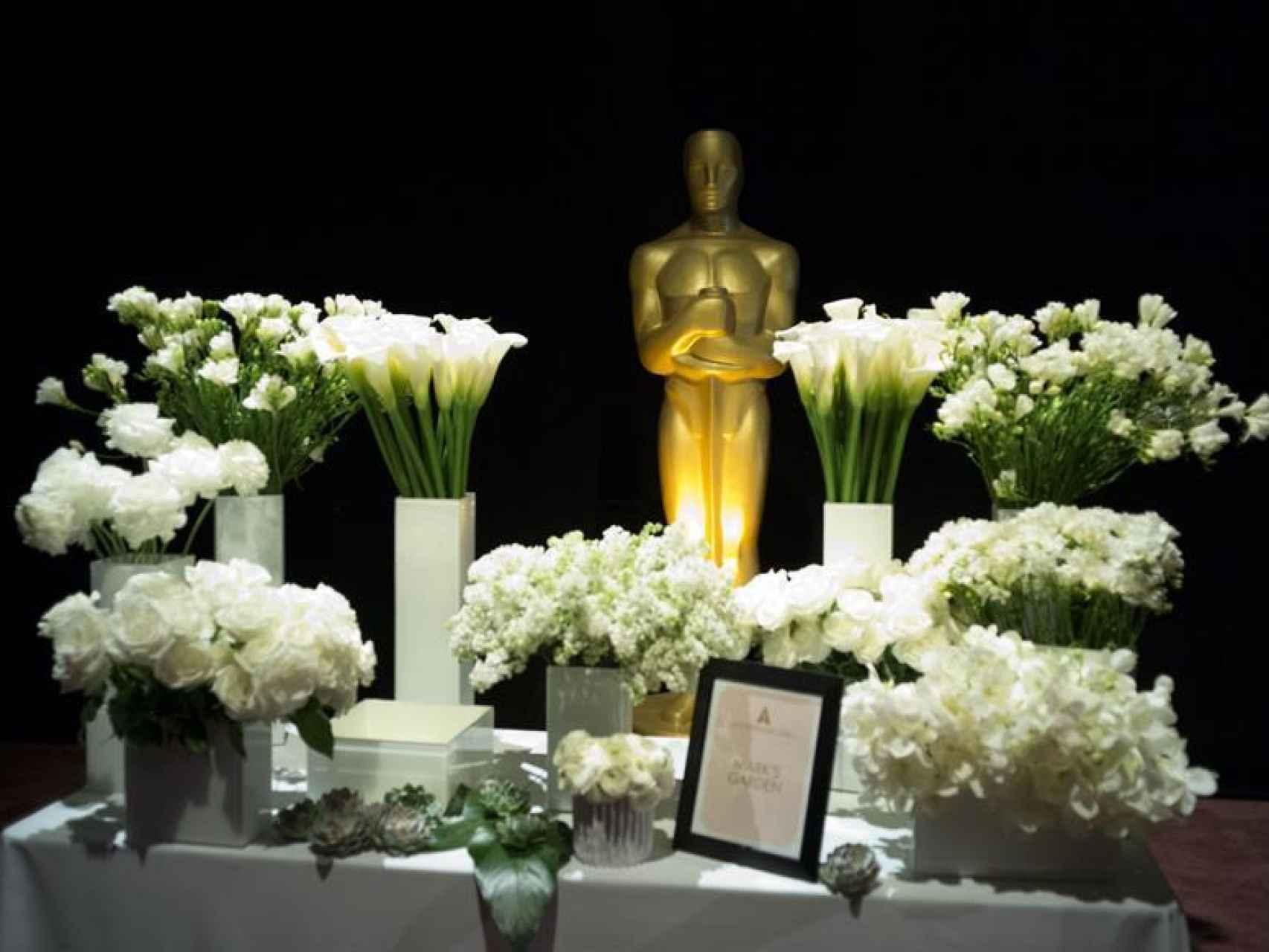 Vista de la decoración floral de los próximos Óscar/Armando Arorizo/EFE