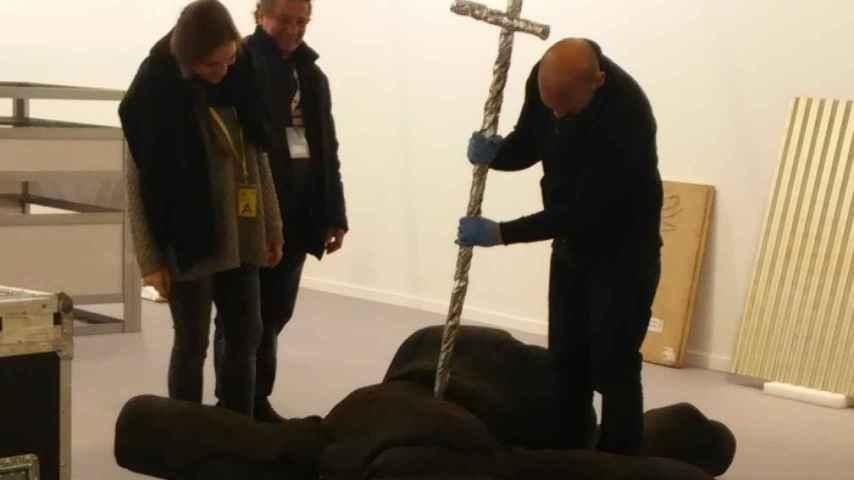 En la galería Alfonso Artiaco, de Nápoles, ultiman la obra de Vicky Civera.