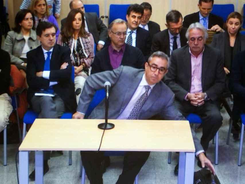 Diego Torres durante su interrogatorio en el juicio