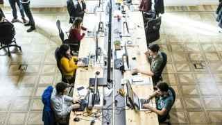 Equipo de CartoDB en sus nuevas oficinas en Gran Vía.