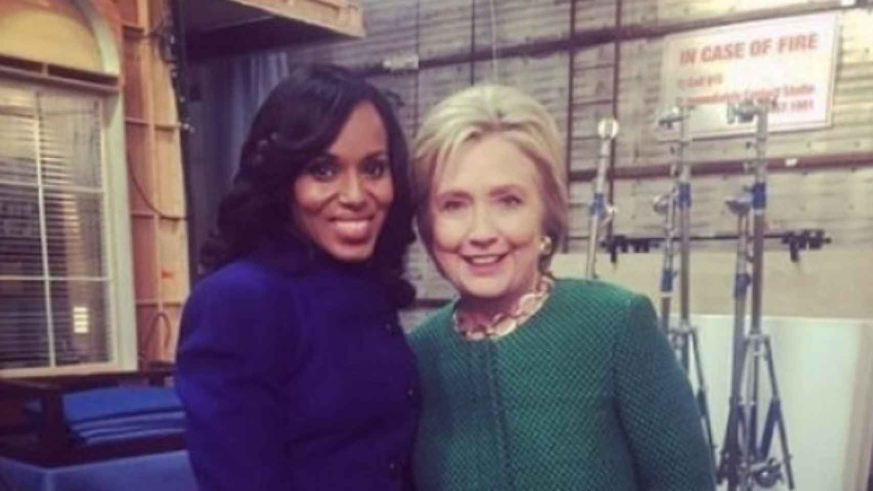 Kerry Washington, protagonista de Scandal con Hillary Clinton