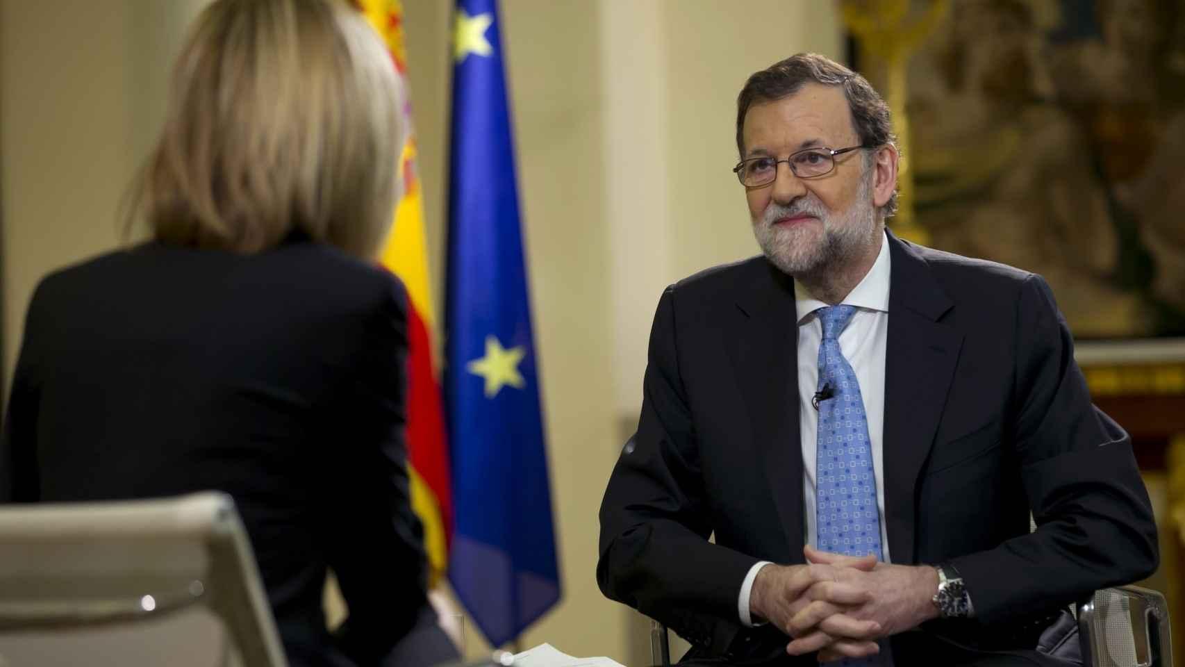 Susanna Griso entrevista a Mariano Rajoy.