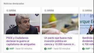 EL ESPAÑOL, en las nuevas páginas AMP.