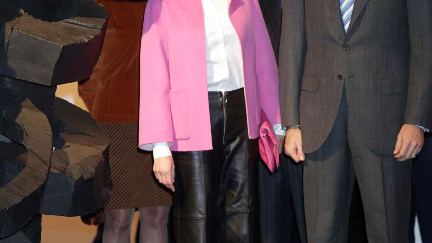 Doña Letizia y Felipe VI en su visita a Arco