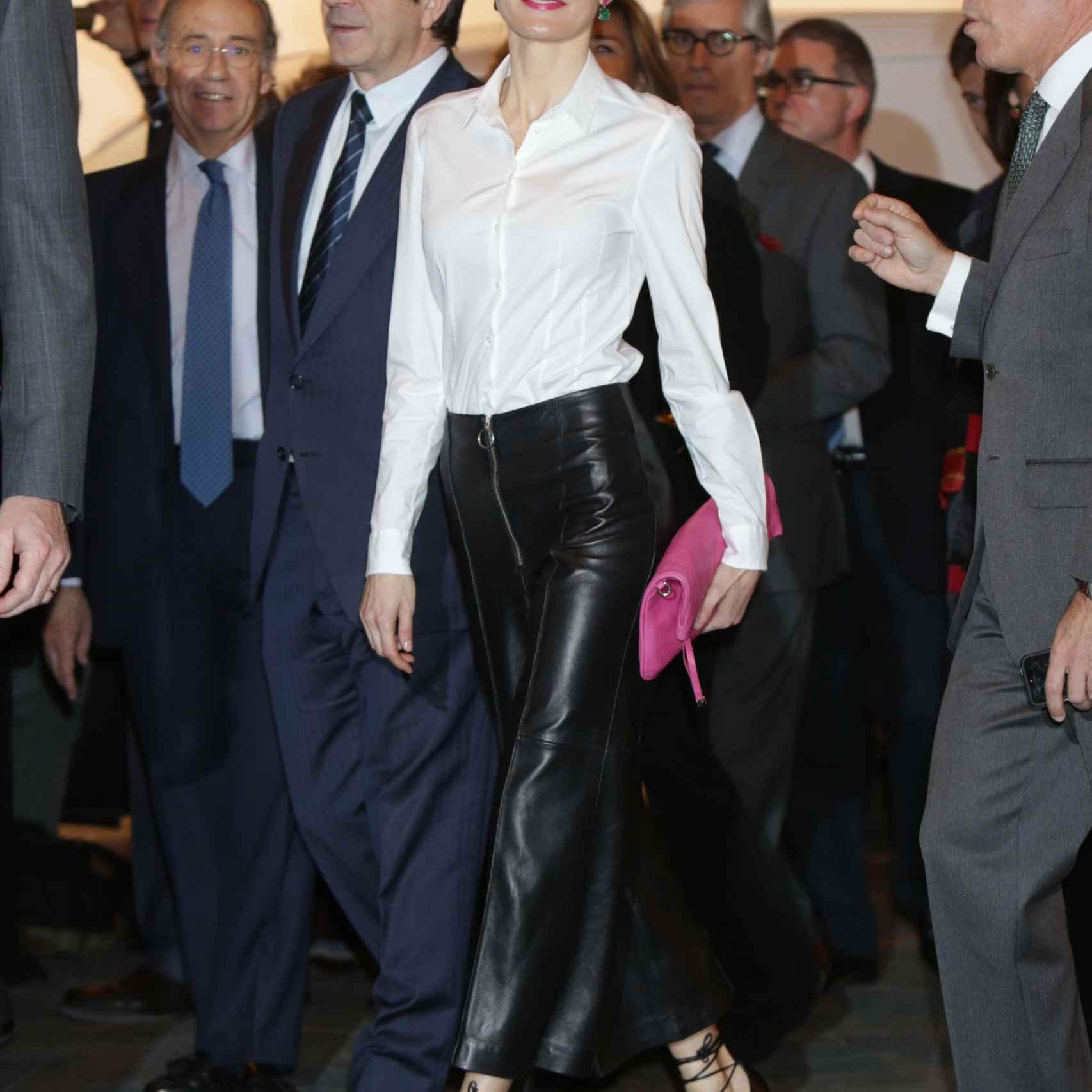 Doña Letizia junto a Patxi López en ARCO