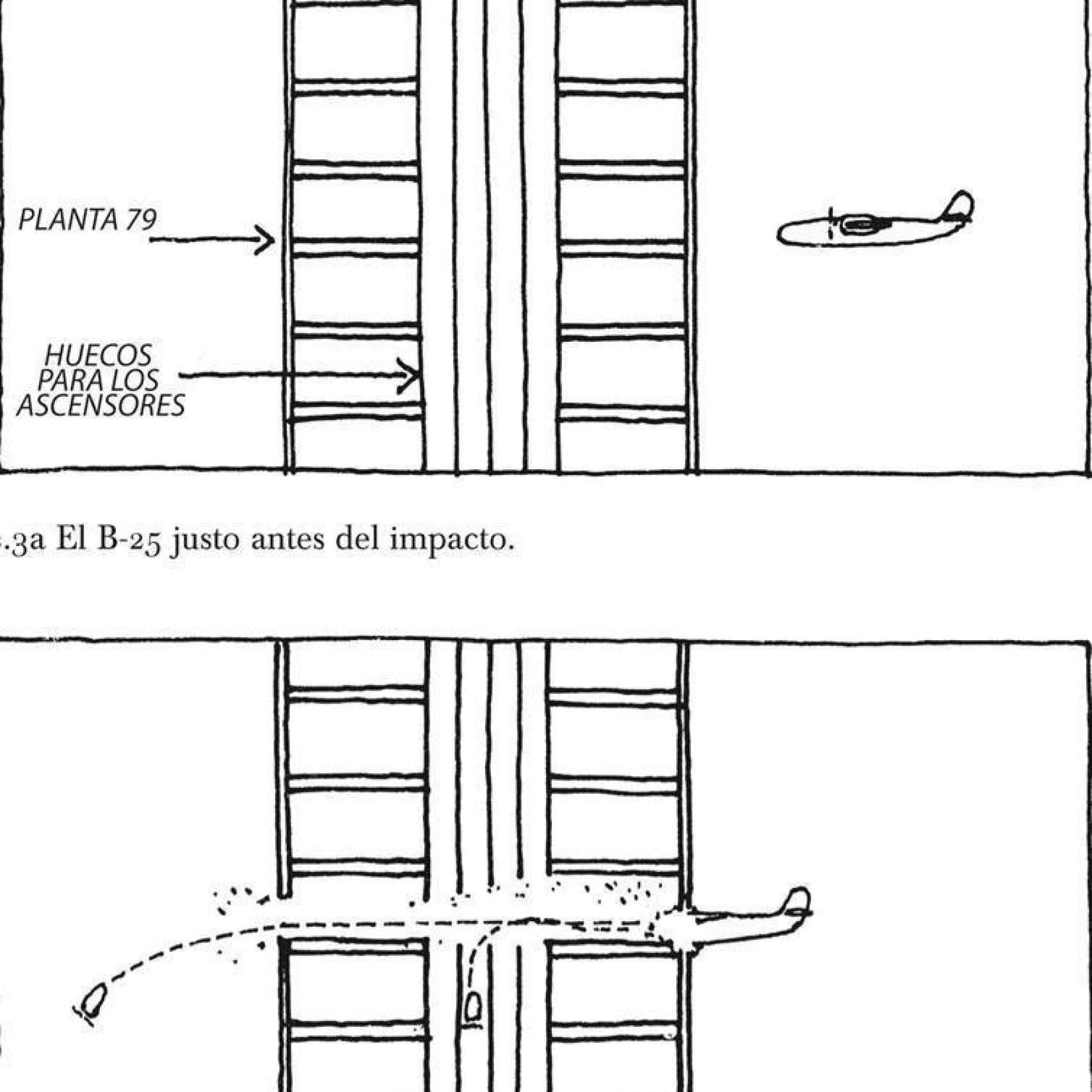 Ilustración de Kevin Woest. Extraída de Por qué se caen los edificios, de M. Levy y M. Salvadori, Turner, 2015.