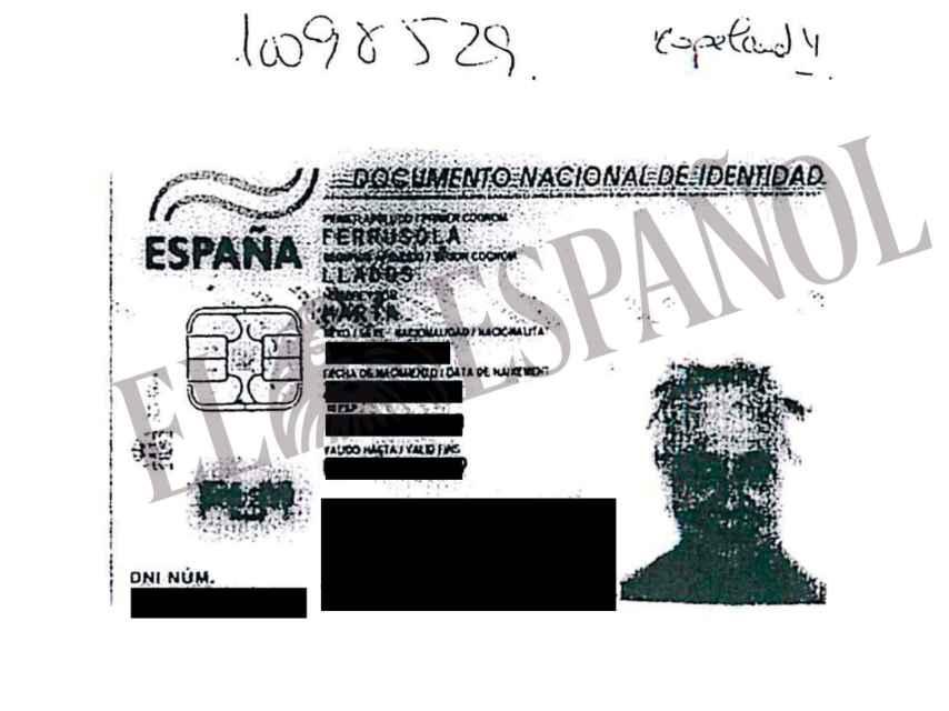 DNI de Marta Ferrusola depositado en las cuentas en Andorra.