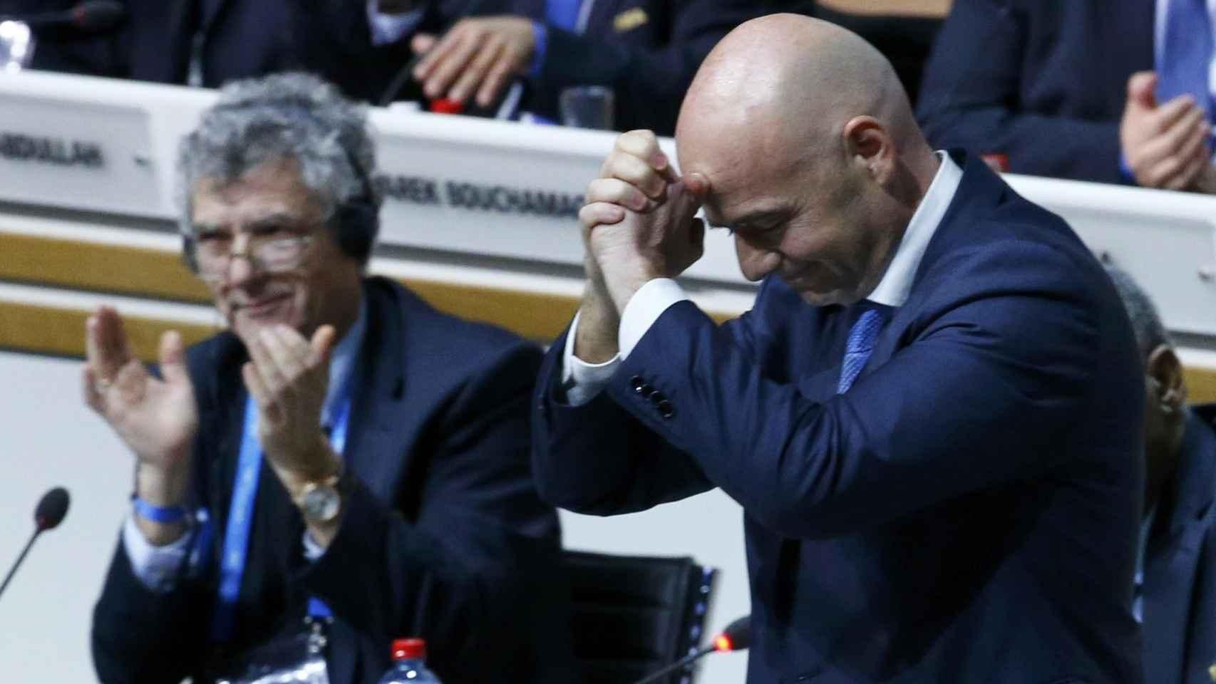 Gianni Infantino, tras ser anunciado nuevo presidente.