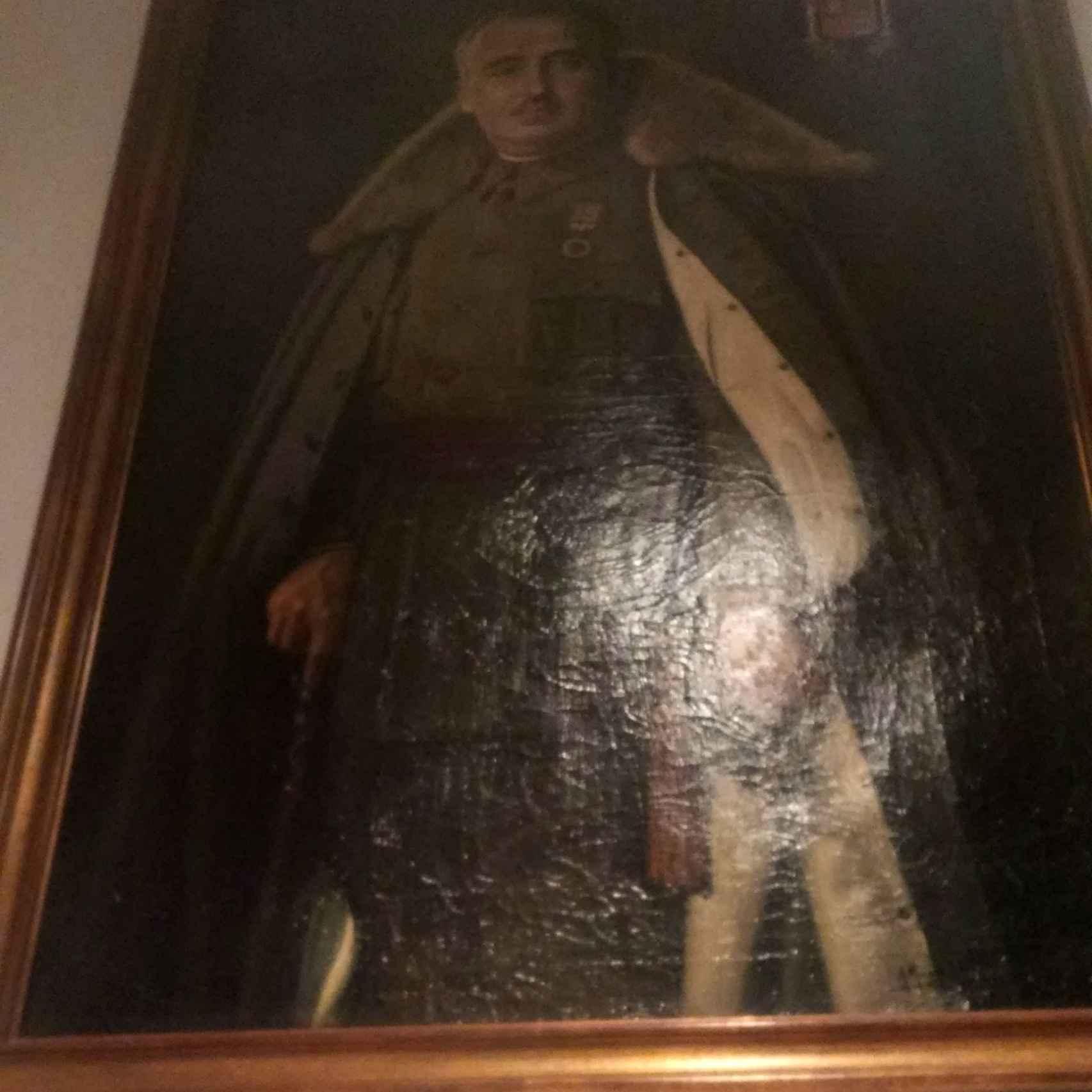 Retrato de Franco en la Sociedad Matritense.
