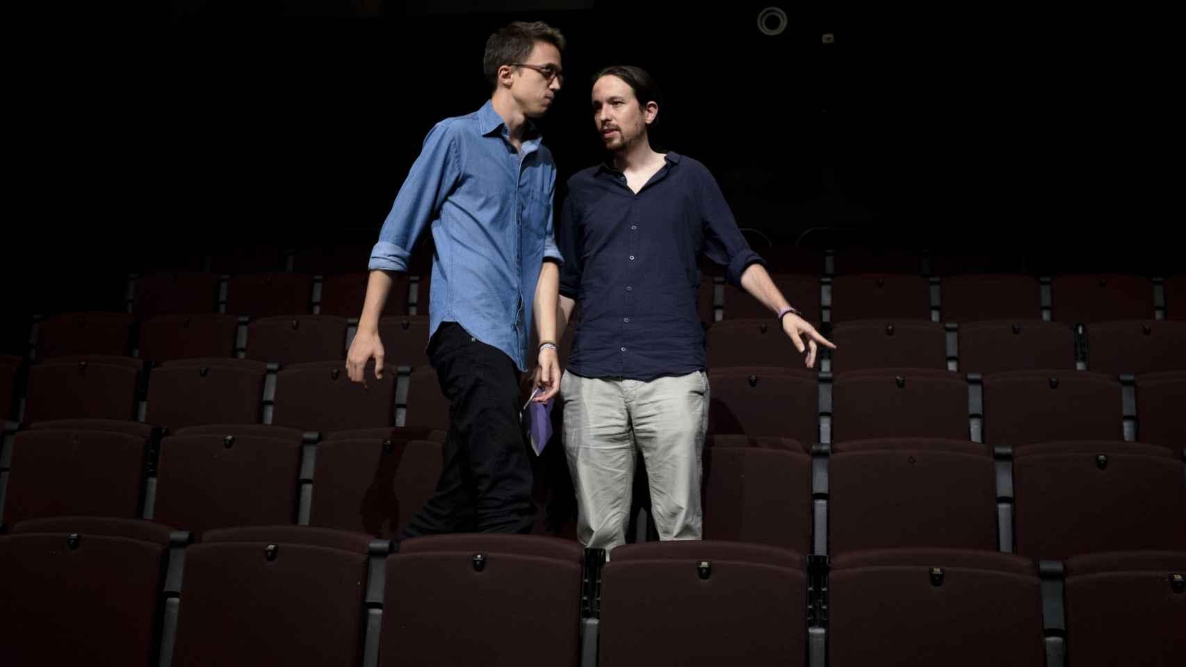 Pablo Iglesias e Íñigo Errejón dirigen la estrategia de Podemos.