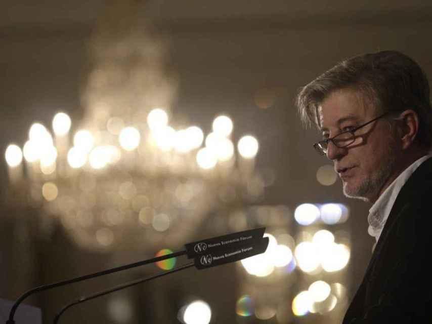 El alcalde de Zaragoza en una conferencia la semana pasada en Madrid