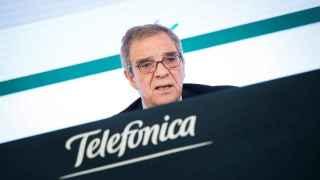 César Alierta, presidente de Telefónica, durante la presentación de resultados de 2015.
