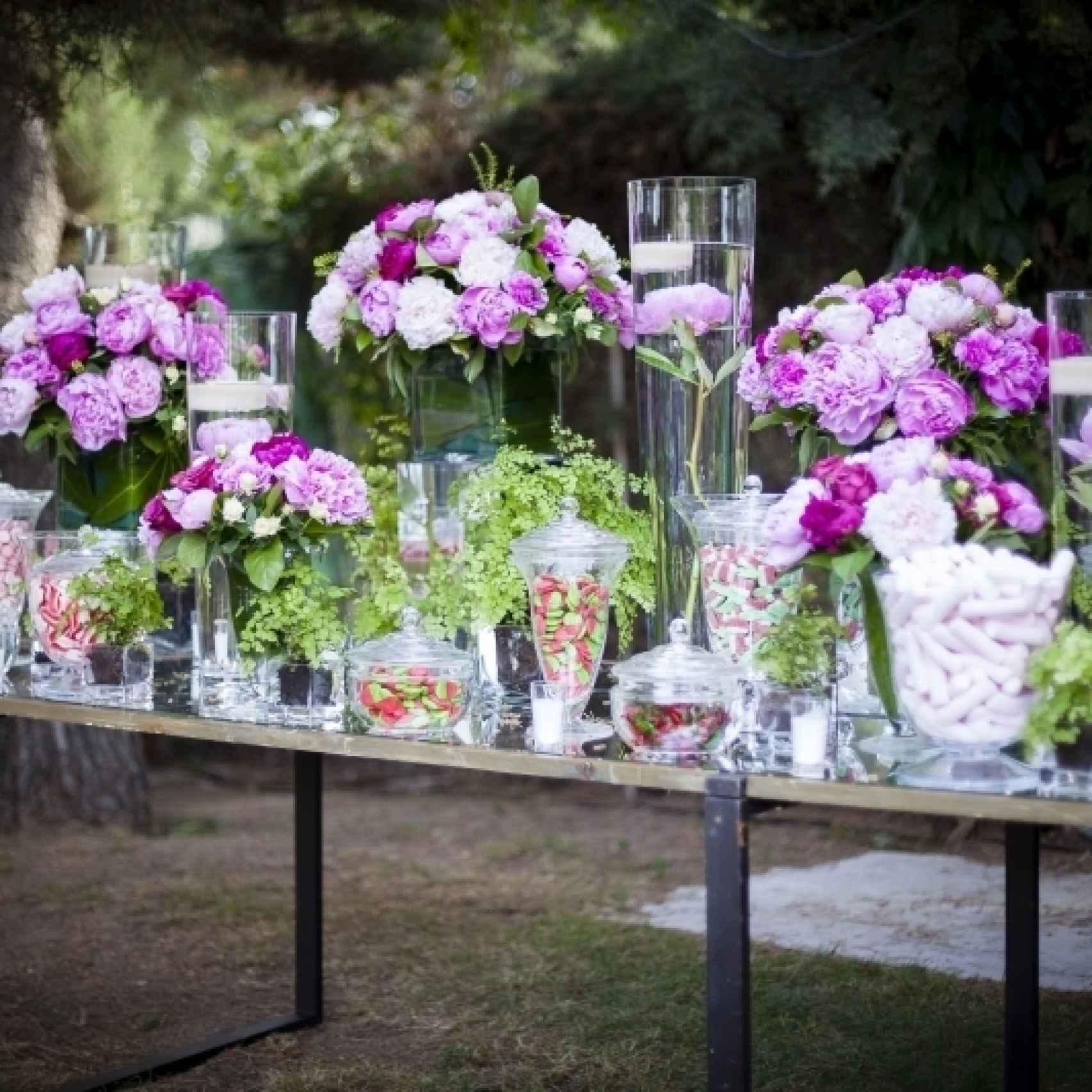 Montaje floral de Aquilea para una boda