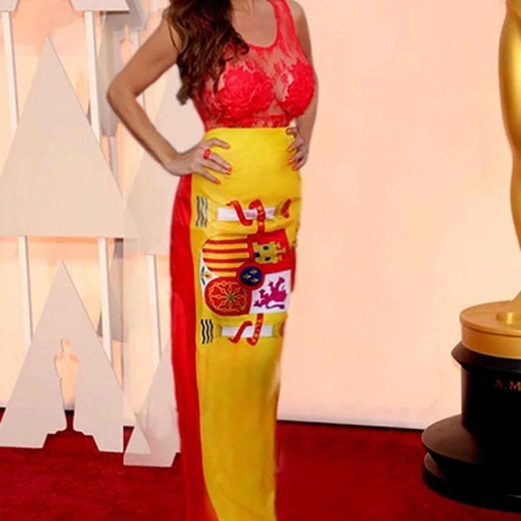 Sonia Monroy cuando fingió estar en los Oscar