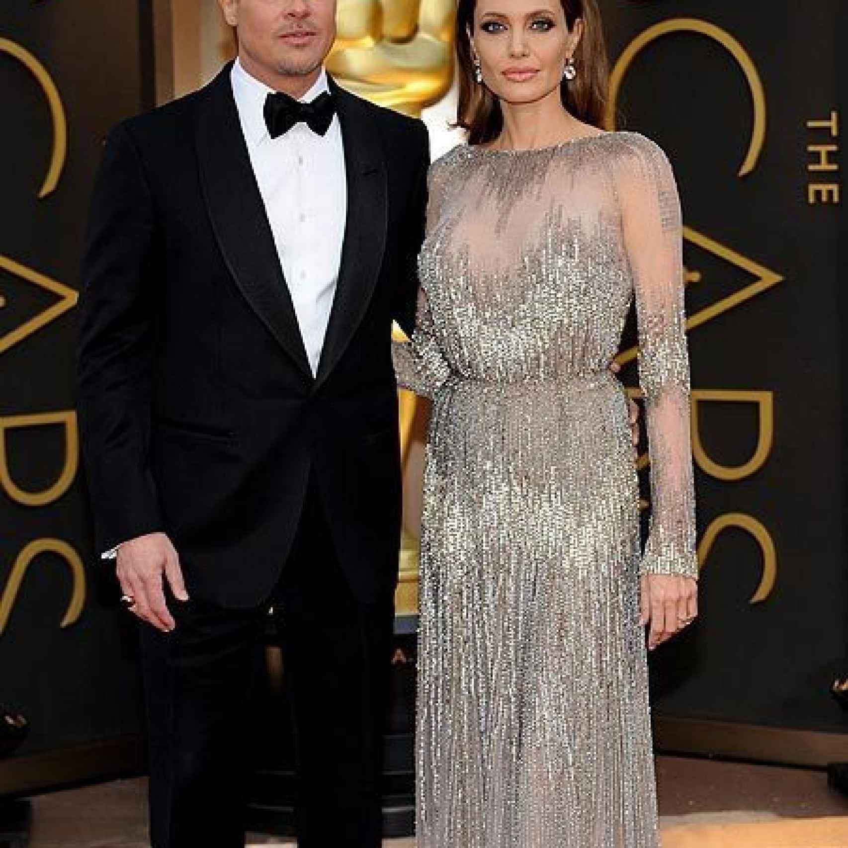 Brad Pitt y Angelina Jolie son otra de las parejas de Oscar