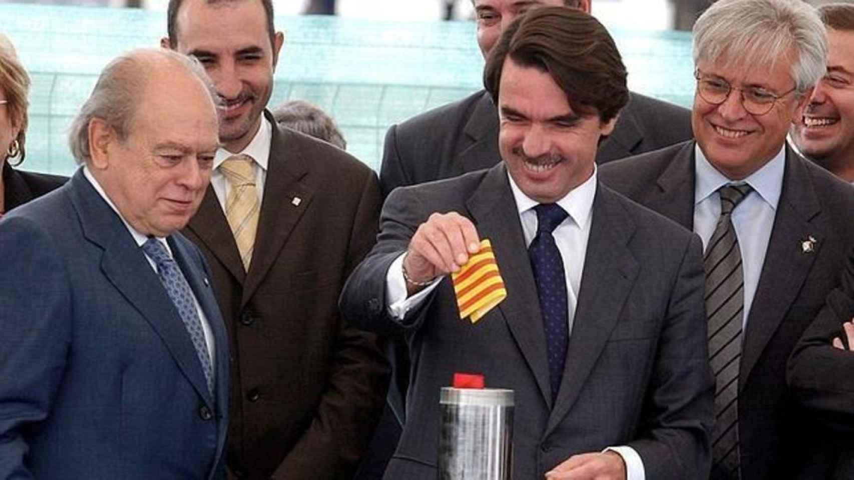José María Aznar junto con Jordi Pujol.
