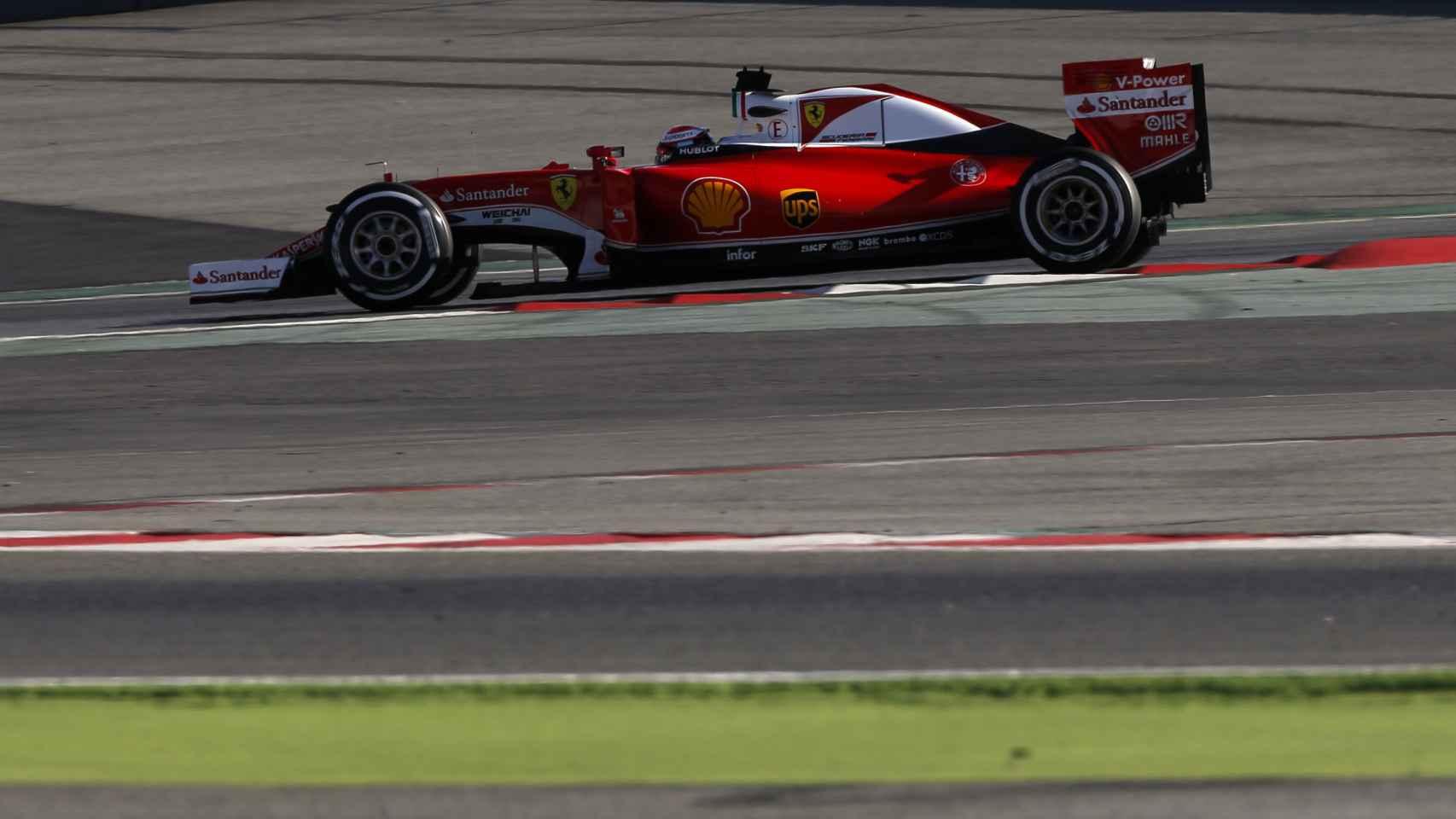 El nuevo Ferrari en Montmeló