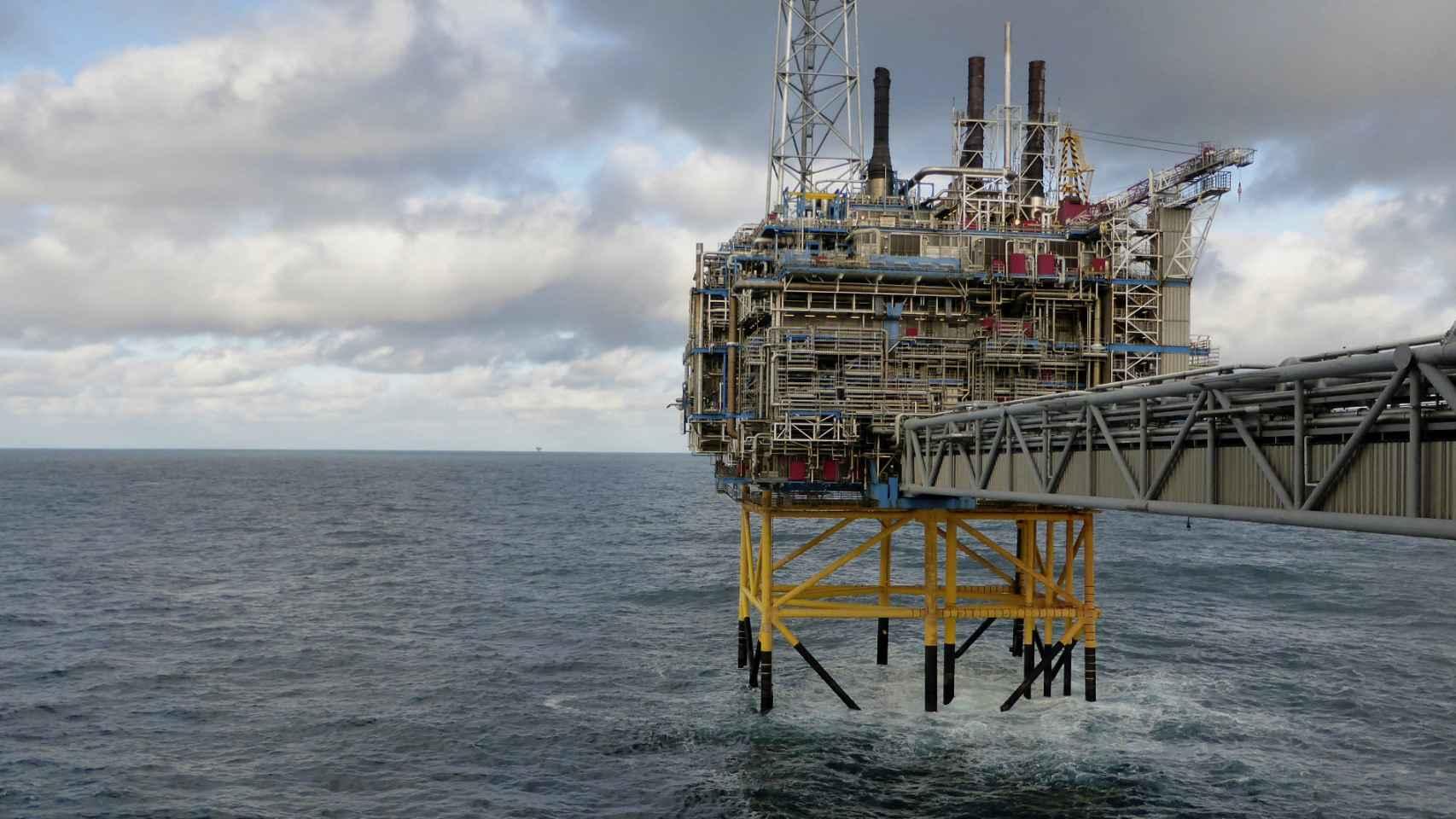 Plataforma de extracción de crudo en el Mar de Norte.