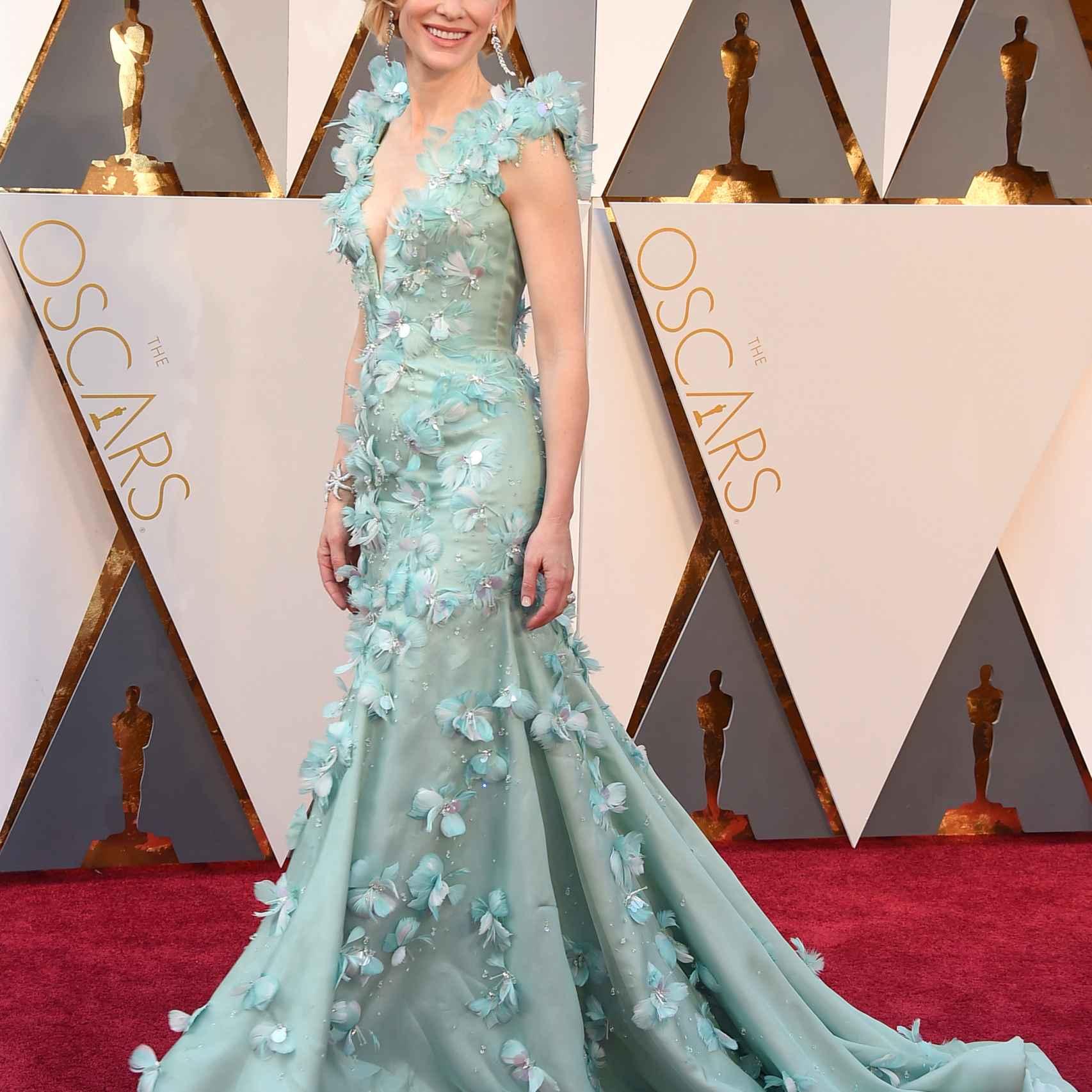 Cate Blanchett espectacular con un vestido floral de Armani