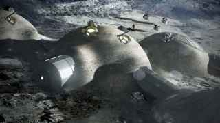 Una recreación de cómo podría ser la base lunar.