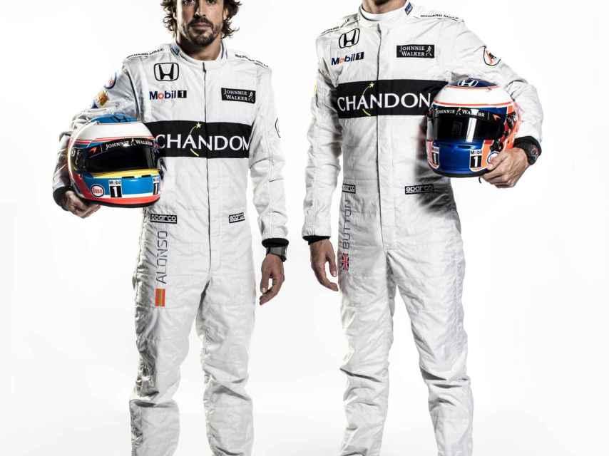 Fernando Alonso y Jenson Button.