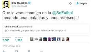 Tuit de Iker Casillas.