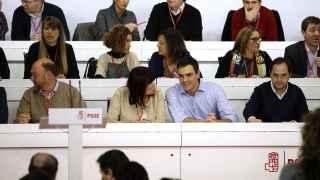 Pedro Sánchez en el Comité Federal del PSOE celebrado este lunes.