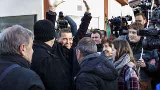 Otegi, a su salida del centro penitenciario de Logroño