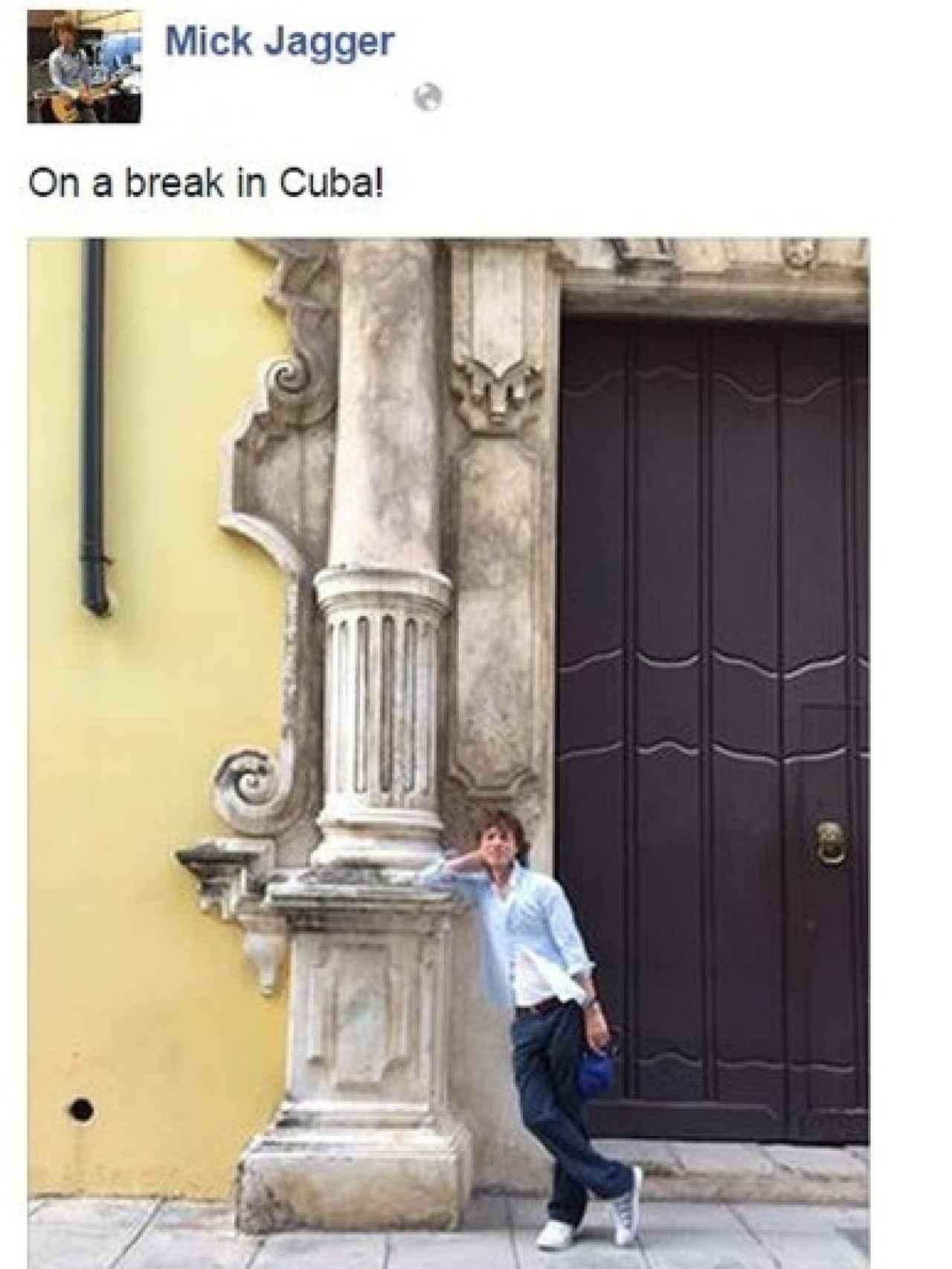 Mick Jagger en La Habana, en octubre 2015.