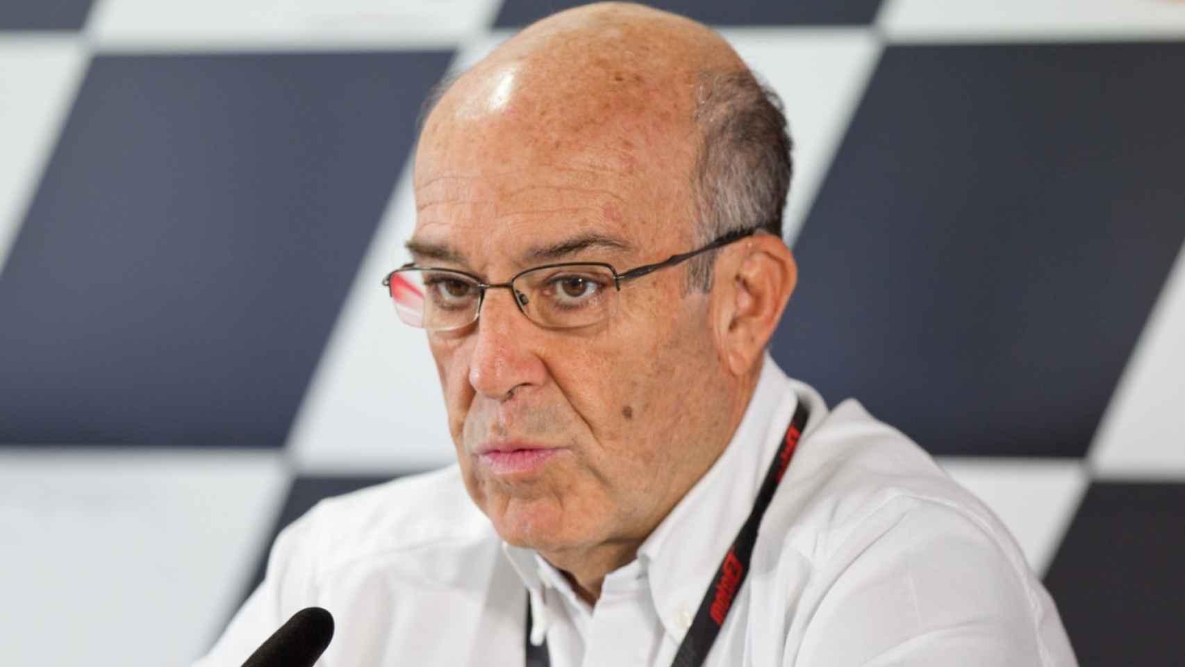Carmelo Ezpeleta, CEO de Dorna Sports, en una imagen de archivo.