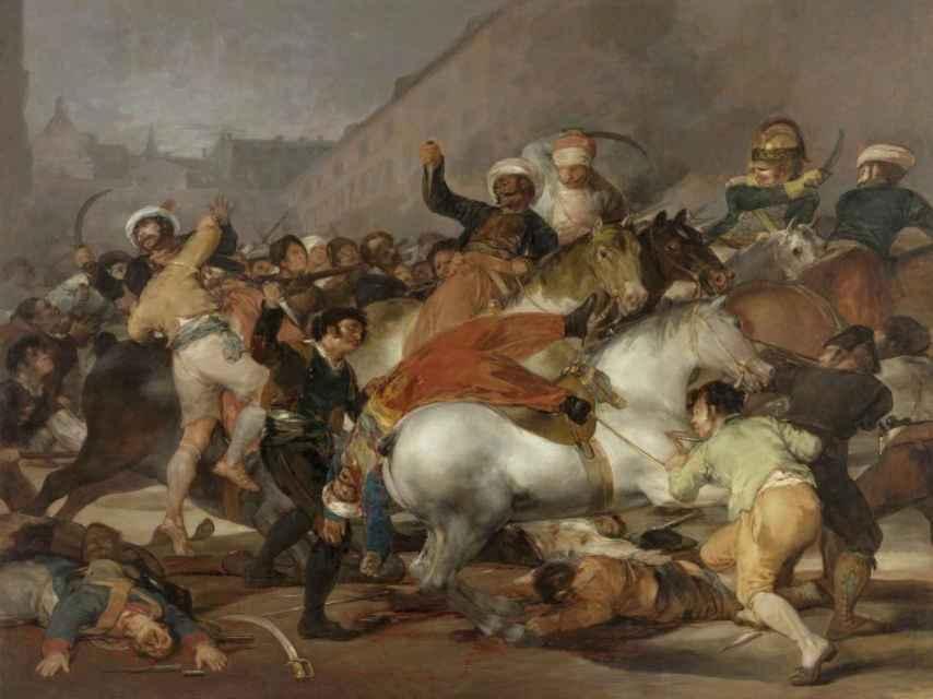 La lucha de los Mamelucos, por Francisco de Goya.