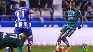 Mosonda, en el partido contra el Deportivo.