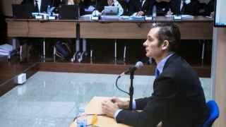 Urdangarin durante el interrogatorio del fiscal Anticorrupción Pedro Horrach