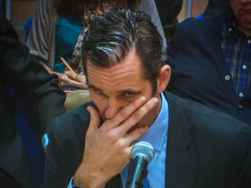 El acusado, en un momento de su declaración.