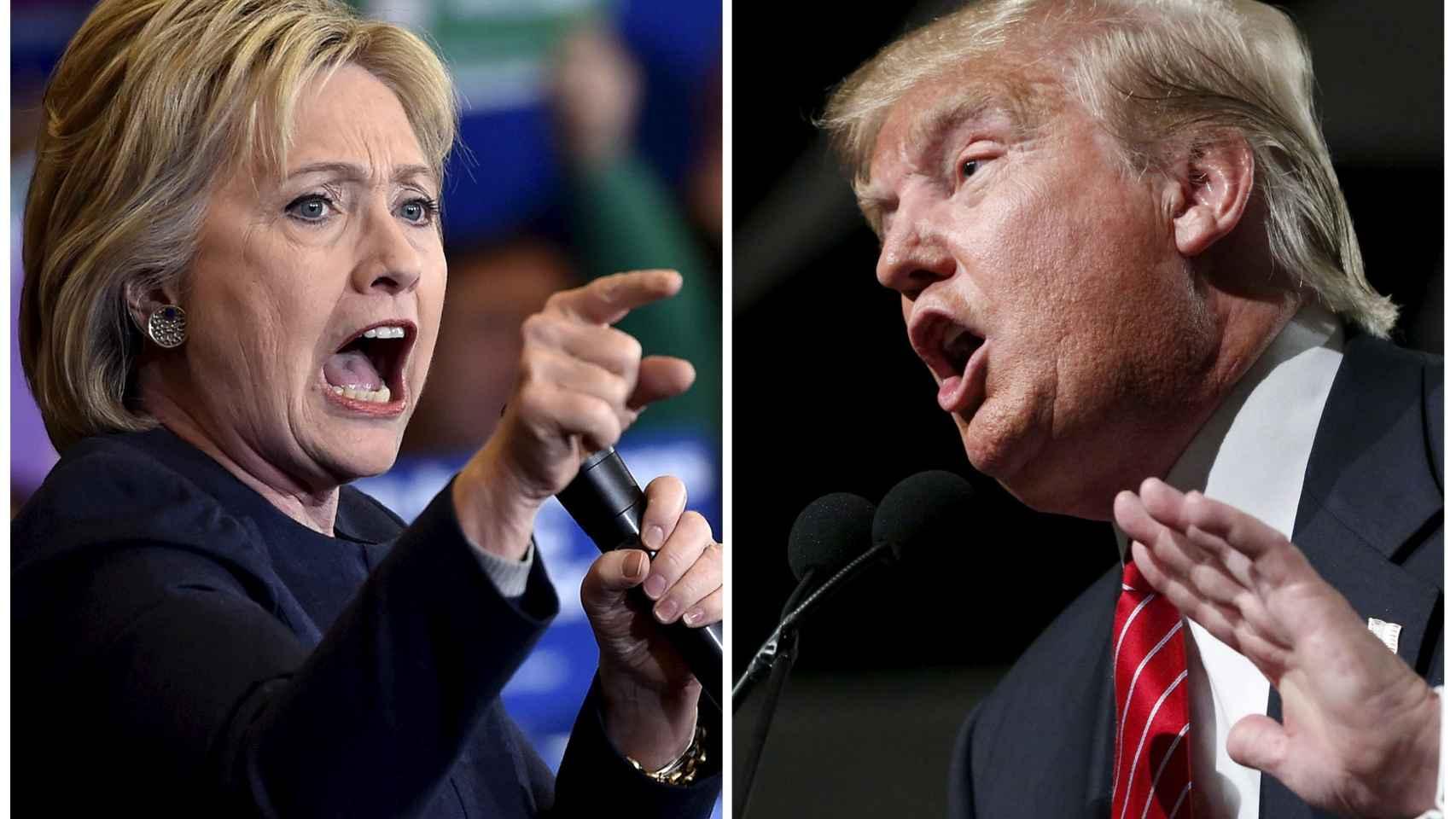Clinton y Trump en discursos en Nevada y Phoenix.